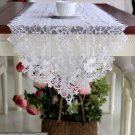 Rsslyn European White Table Runner Luxury lacy Tablecloth