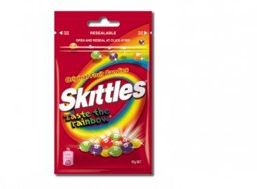 2 packs of Skittles Original Fruit Candies in resealable packing