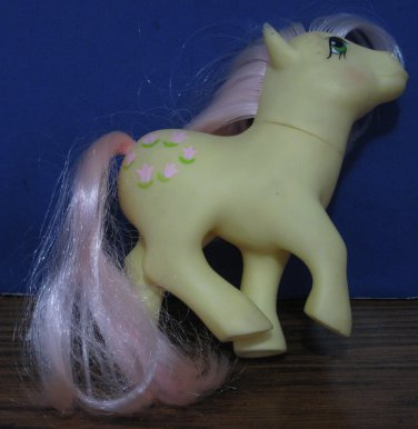 My Little Pony G1 Posey - 1984 Vintage - Stained Ear / Has Trouble Standing