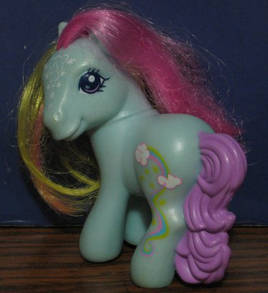 My Little Pony G3 McDonalds Rainbow Dash Happy Meal Toy - Fancy Symbol - 2008