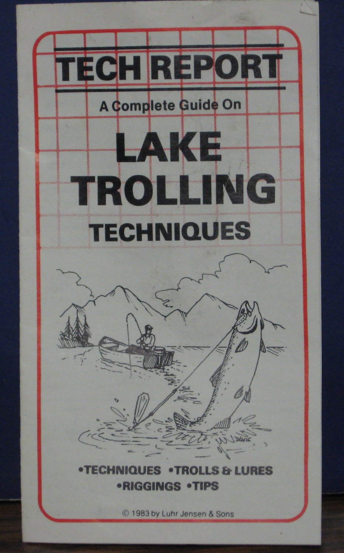 Luhr Jensen Tech Report Complete Guide on Lake Trolling Techniques 1983 Vintage