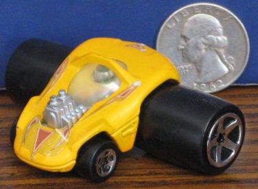 "Hot Wheels Fatbax Sillhouette Yellow McDonalds Funny Car - 2"" x 2 1/2"" - 2004"