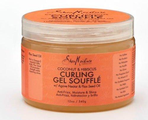 Shea Moisture Organic Coconut & Hibiscus Curling Gel Souffle 12 oz - VelvetBlush