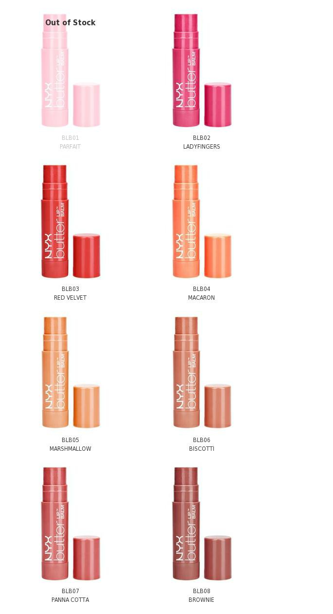 NYX Butter Lip Balm - Pick Your 3 Favorite Shades - BLB