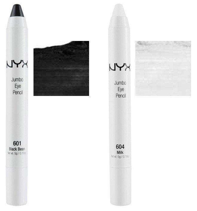 2 NYX Jumbo Eye Pencils - JEP 601 Black Bean