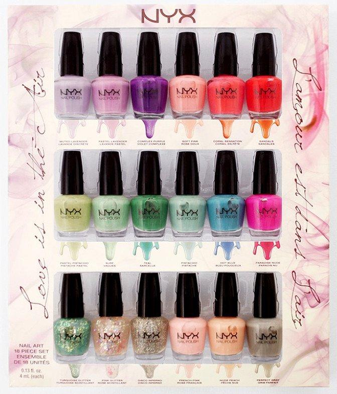 NYX Cosmetics Love Is In the Air 18 pcs Mini Nail Polish Set NPSET02