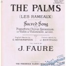 The Palms Les Rameaux Sheet Music J Faure