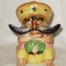 VINTAGE Mexican Senor Figurine Large Moustache Arms Folded Siesta