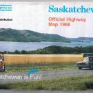 Saskatchewan Official Road Map 1988