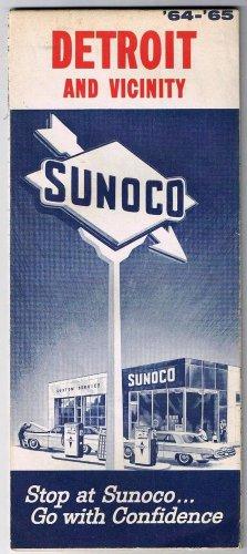 Sunoco Oil Detroit & Vicinity Road Map 1964-65