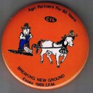 Retro Pinback Button Essex Ontario 1989 International Ploughing Match CIL