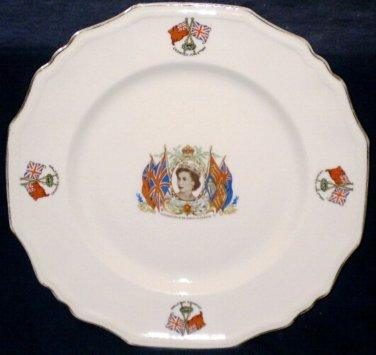 Alfred Meakin Queen Elizabeth II Coronation Plate Large