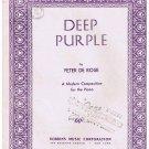 Deep Purple Sheet Music Peter De Rose