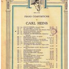 Dance Of The Bears Sheet Music Carl Heins