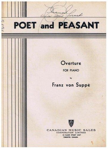 Poet And Peasant Sheet Music Franz von Suppe