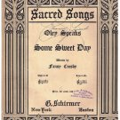 Some Sweet Day Sheet Music Fanny Crosby