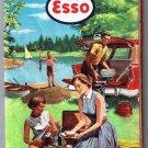 Esso Eastern United States Road Map 1957 Adjacent Canada