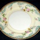 Noritake Foreign Red Mark Cream Blue Dessert Plate