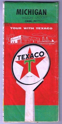 Texaco Oil Michigan Road Map 1956
