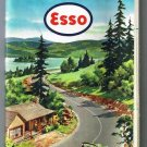 Central & Western United States Esso Road Map 1955