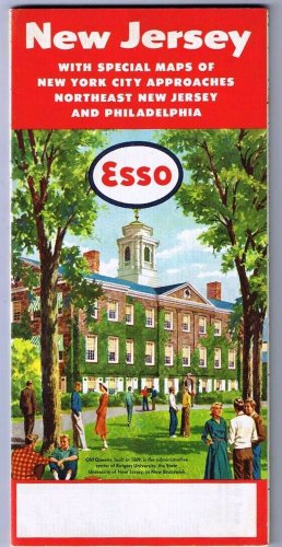 New Jersey Esso Road Map 1952