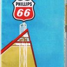 Interstate Highway Guide Phillips 66 Road Map 1971