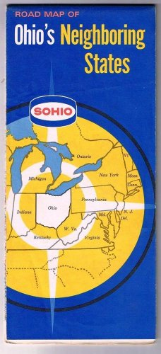 Ohio's Neighboring States Sohio Road Map 1955