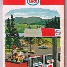 Oklahoma Kansas Enco Road Map 1966