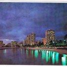 Waikiki Hawaii Postcard Evening in Waikiki Honolulu