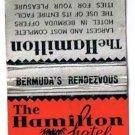 BERMUDA Match Cover Hamilton Hotel Ohio Match Pre-1935