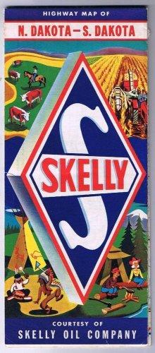 North & South Dakota Skelly Road Map 1960