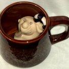 Foaming Coffee Mug Drowning Man with Lifebuoy Inside Mug Hilarious