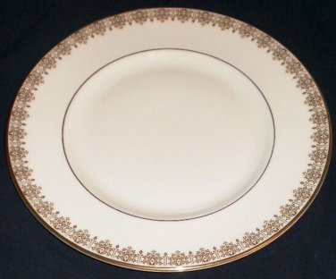 """Royal Doulton Gold Lace Dinner Plate 10 1/2"""" H4989 Made in England"""