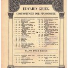 March Of The Dwarfs Sheet Music Edvard Grieg