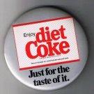 Large Retro Pinback Button Diet Coke Coca-Cola