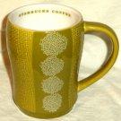 Starbucks Coffee Mug Burlap Design Celery Green 2007 12 oz