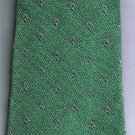 Armani Neck Tie Green Silver Made in Italy Silk Blend