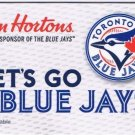 Tim Horton's 2018 Gift Card MLB Toronto Blue Jays No Value