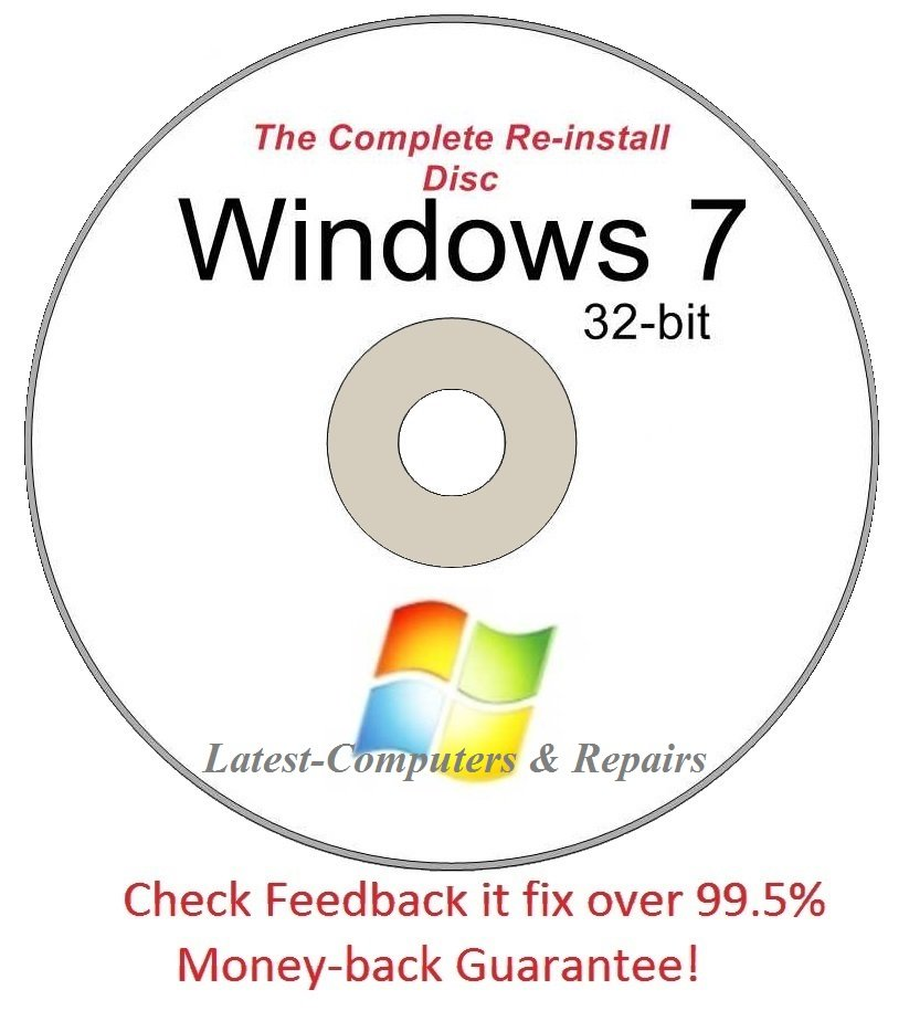 Complete Re-install New Disc Windows 7 Home Basic 32-bit - Had windows? you can Reinstall it,