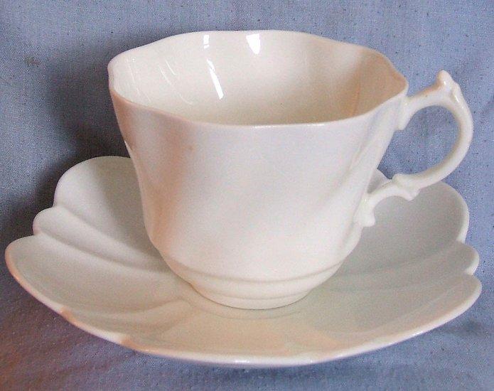 Rare All White Salisbury Bone China Teacup Set SLS2