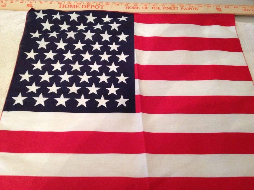 USA  BANDANA AMERICA AMERICAN FLAG UNITED STATES 100% COTTON !!!