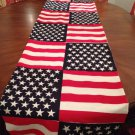 Handmade  100%Cotton American Flag Table Runner