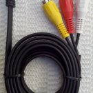 3.5 mm to 3-RCA AV Audio Video Cable for Camcorder Camera digital camera New