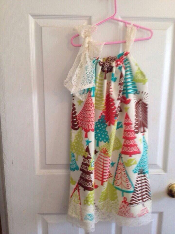 Tree Dress  Pillow Case Dress Size  6-8
