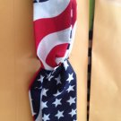 USA Cotton  American Flag Red White Blue Twisted Headband With Wavy Strips