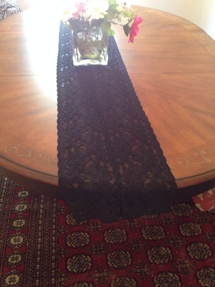 Black Lace Runner