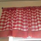 Handmade Red Gingham Valance