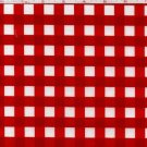 100%Cotton Fabric Per Yard, Woven Gingham,Red & White,44in Wide.