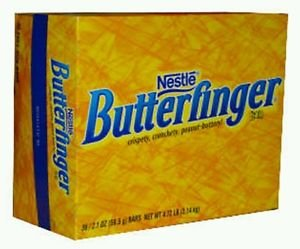 Nestle Butterfinger Peanut Butter Chocolate  24 1.9oz (53.8g) Bars Free Shipping