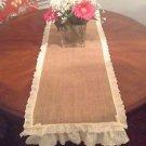 Handmade Burlap Table Cloth With Cute Vintage Look